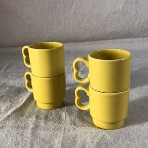 Vintage Homer Laughlin Stackable Mugs